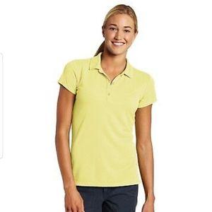 Columbia Bright Yellow Short Sleeve Polo Shirt